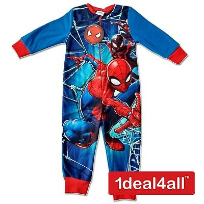 Spiderman Kids All in One Boys Girls Childrens Fleece Sleepsuit Pyjamas 1.5 - 5