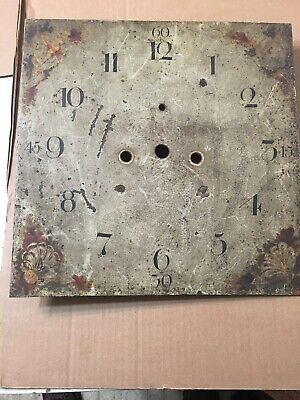 Antique Grandfather Clock Square Dial Circa Early Mid 1800's