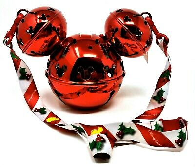 Disney 2019 Mickey Mouse Jingle Bell Light Up Christmas Holiday Sipper Cup NEW