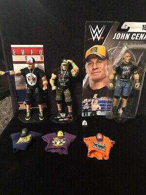 WWE Elite Collection,2John Cena Wrestling  Action Figure & WWE Series 100 Basic