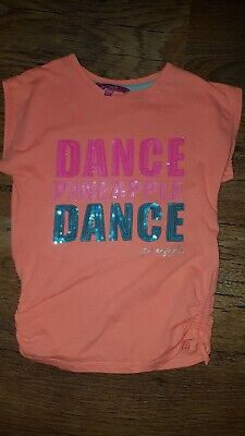 Pineapple Dance Girls T-Shirt  age 6-7 Years