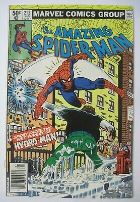 Amazing Spider-Man #212 Newsstand Variant Marvel Comics 1St Appearance Hydro-Man