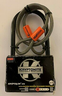 Kryptonite Kryptolok Series-2 Black 13mm Disc Lock Yellow Bike 42mm 49mm Bicycle