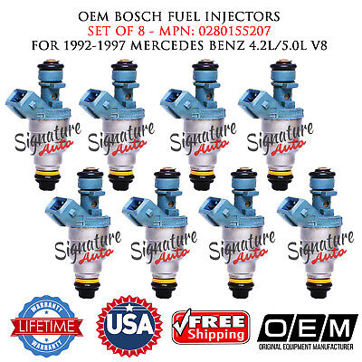 8X OEM Upgrade EV1 0280155217 Fuel Injectors for Mercedes Benz S500 S420 20LB