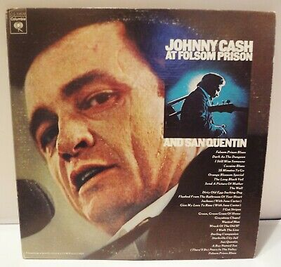Johnny Cash At Folsom Prison And Sanquentin-2 Lp-Columbia Cg 33639-1974 Release