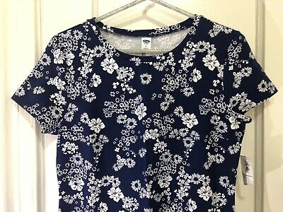 Womens Old-Navy Blue Floral Dress  Size Medium New With Tags  Hawaiian Christmas