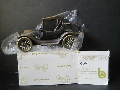 Vintage 1915 Chevrolet Banthrico Cast Metal Car Coin Bank New In Box