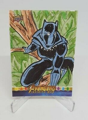 2018 Marvel Avengers Infinity War Black Panther Sketch by KOOLAsHECK 1/1