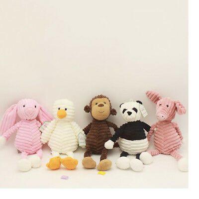 Cartoon Animal Soft Plush Toy Appease Stuffed Doll Baby Kids Toddler Gift BS