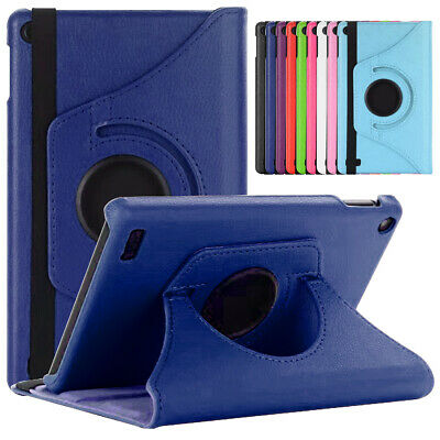 360 Rotating Leather Stand Case For Amazon Fire 7 9th 7th Generation 2019 Tablet