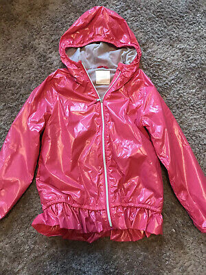 Girls Next Pink Rain Coat Jacket Age 10 Years