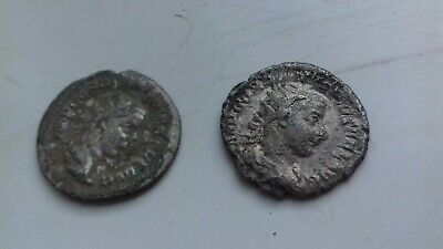Two Ancient Silver Roman Coins