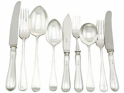 Sterling Silver Canteen of Cutlery for 6 Persons by William Yates Sheffield 1973
