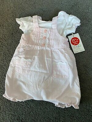 Baby Girl Boots Mini Club Romper Pink Outfit- BNWT 0-3 Months