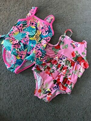 2 X Baby Girl Swimming Costumes From Boots Mini Club 3-6 Months