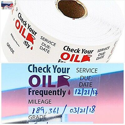 Oil Change Reminder Stickers Clear Decals Static Cling Sticker 500 Stickers New
