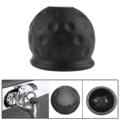 Universal 50mm Black Tow Bar Ball Cover Cap Towing Hitch Caravan Trailer Prot ·