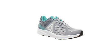 Reebok Womens Endless Road Grey/Teal/White/Black/Neon Lime Running Shoes Size 8