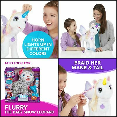 StarLily, My Magical Unicorn Interactive Plush Pet  Light-up Horn, Ages 4 and Up
