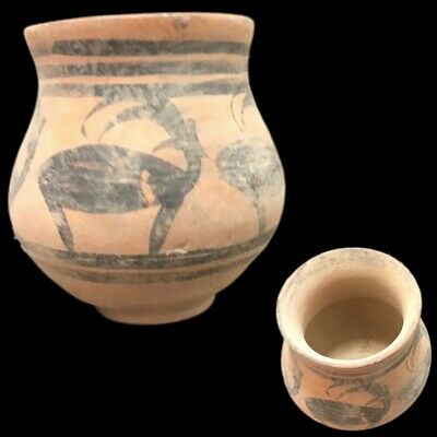 Roman Indus Valley Polychrome Storage Vessel, Rare Ancient Artifact (4)