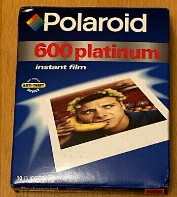 POLAROID 600 Platinum Instant Film 10 Photos SEALED Exp. 03/01