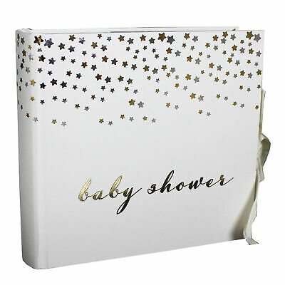 Bambino Baby Shower Photo Album – with Silver & Gold Star Design