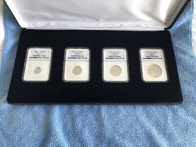 2007-W Burnished Platinum Eagle Ngc Ms70 Complete 4 Coin Set ($10 $25 $50 $100)