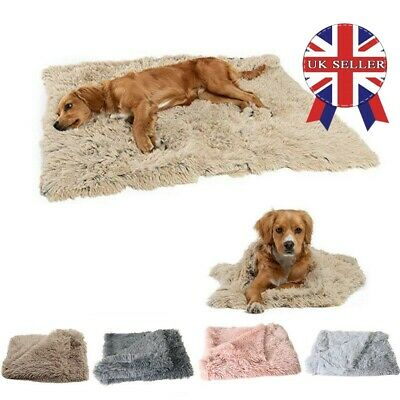 Extra Large Cat Dog Puppy Blanket Pet Soft Fluffy Blanket Cosy Warm Throw Mat UK