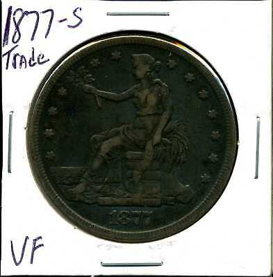 1877-S $1 Silver Trade Dollar in VF Condition
