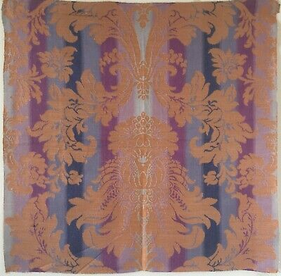 Beautiful 20th C. Silk and Polyester Framed Woven Jacquard Fabric (2669)