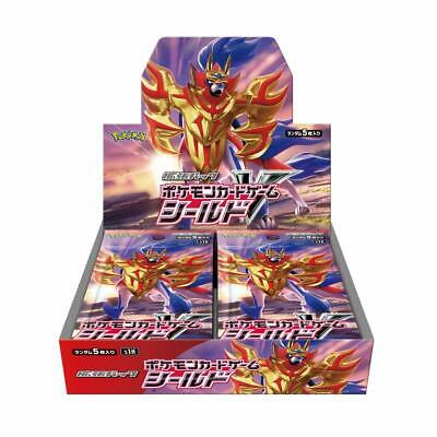 """Pokemon Card Game New Expansion """"Shield"""" Sealed Booster Box Japan 2019 S1H"""