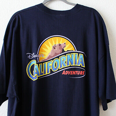 Disneyland Disney's California Adventure Navy Blue Big Park Logo T-Shirt - XXL