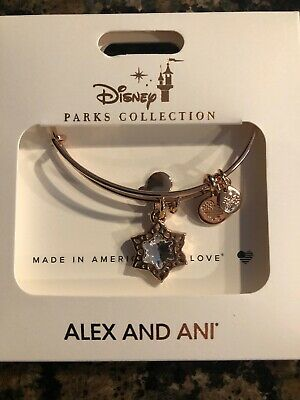 Disney 2019 Alex And Ani Star Christmas Snowflake Mickey Rose Gold Bracelet New