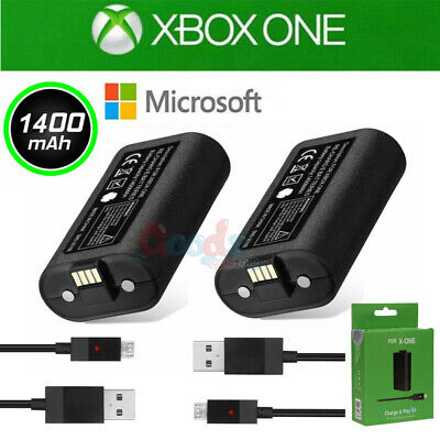 2Pack Rechargeable Li-ion Battery Pack Play & Charge Kit for Microsoft Xbox One