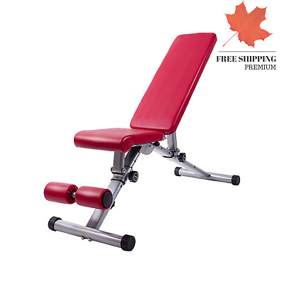 Adjustable Weight Bench Utility Exercise Workout Bnech Flat Incline Decline B...