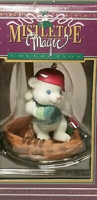 Baseball Glove Mouse Mistletoe Magic Collection Christmas Ornament with Box