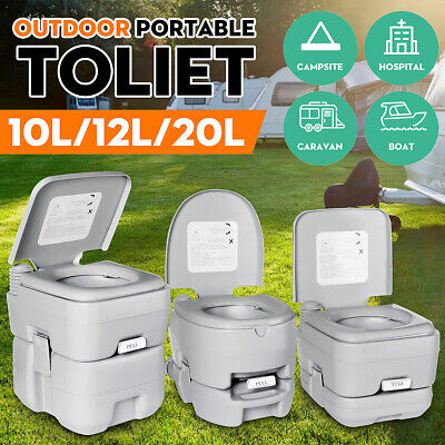 20L Portable Toilet for Elderly Home Travel Camping Commode Potty Indoor Outdoor