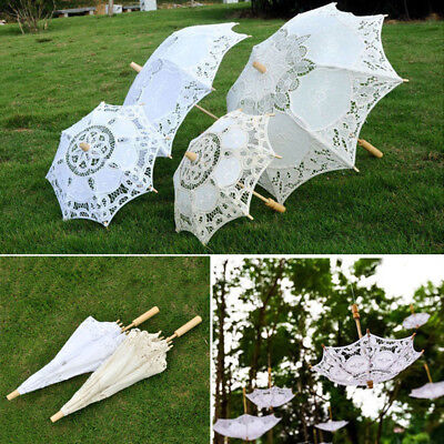 New Lace Flower Girl Parasol Bridal Wedding Party Sun Umbrella Photography Party