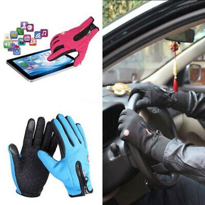 Men Women Winter Warm Gloves Windproof Waterproof Thermal Touch Screen Mittens S