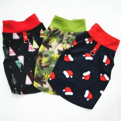 Pet Dog Fleece Harness Shirt Vest Puppy Warm Jumper For Chihuahua Yorkshire Dog
