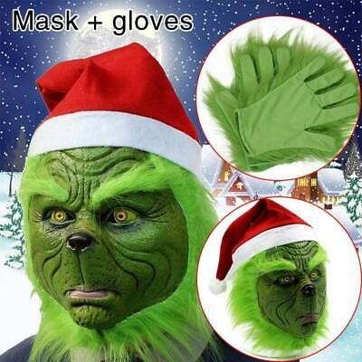 HOT The Grinch Glove Cosplay Mask Costume Christmas Prop How the Grinch Stole UK
