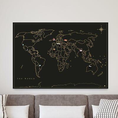 Magnet Travel Map Wall Art Souvenir Magnets Display Board Traveller Novelty Gift