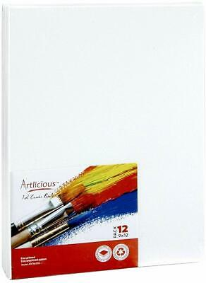 """Artlicious Canvas Panels 12 Pack - 9""""X12"""" Super Value Pack- Artist Canvas Boards"""