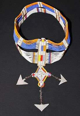 African Maasai Masai Beaded Ethnic Tribal Head Crown Tiara Jewelry - Tanzania 02