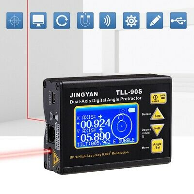 TLL-90S Super High 0.005 Precision Laser Level LCD Display Angle Meter Dual Axis