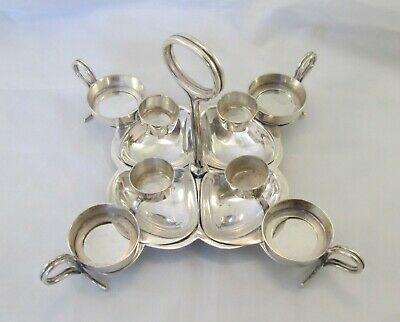 A Fine Rare Vintage Silver Plated Oyster Serving Dish - Reg No