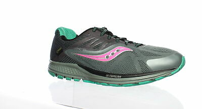SAUCONY WOMENS RIDE 10 Gtx Grey Pink Running Shoes Size 11.5