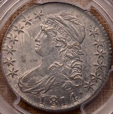 1814 O.103 Capped Bust half, PCGS AU55, wonderfully pleasing  DavidKahnRareCoins