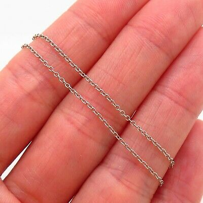 Tiffany & Co. Elsa Peretti 925 Sterling Silver Chain Necklace