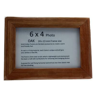 Real Solid Timber Oak Wood Picture/ Photo Frame 6 x 4 Handmade UK